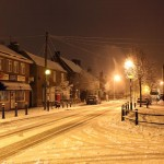 High Street Snow at night