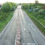 Looking east along the A47 during lockdown