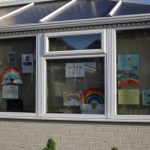 Pictures of rainbows on nursery window