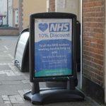 Coronavirus shop signage
