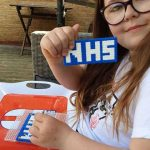 NHS logo made from Hama Beads