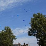Ballons released at Elliot's Funeral