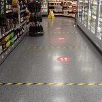 Coronavirus shop floor signage