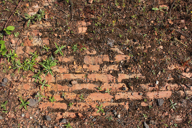 Brick surface on the former brickyard site